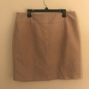 Khaki business professional skirt